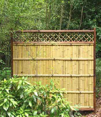 Prebuilt Bamboo Fence Panel