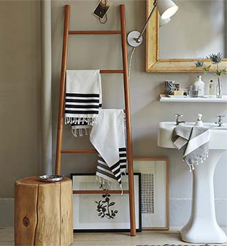 Bamboo ladder 8   7   6  5  Use to hang towels in the bathroom. Bamboo Ladder
