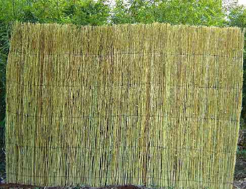 Rolled Rustic Bamboo Branches Fence