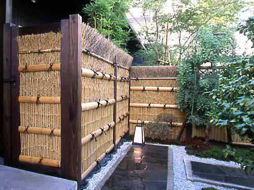 Bamboo Branch Fence Panel