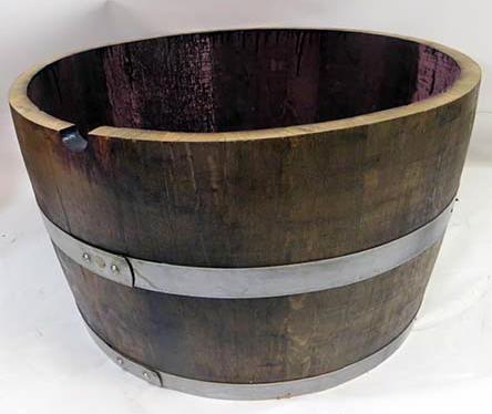 Cut Barrel Wood Planter