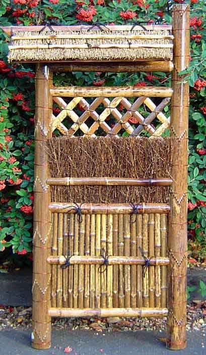 decorative gate in bamboo fence stock image image of.htm bamboo brushwood fence panel  bamboo brushwood fence panel