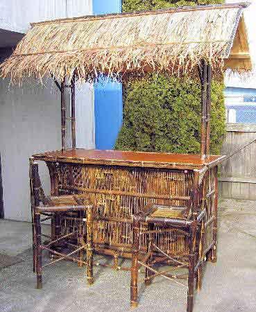 Bamboo Tiki Bar Amp Stool