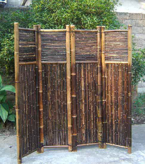 Bamboo screen divider for Garden dividers screens