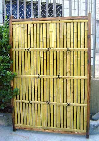 Bamboo Shadowbox Semi Privacy Fence Panel Lattice Top