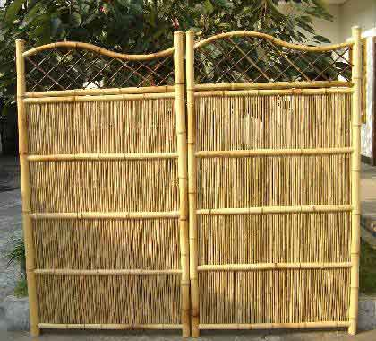 Curved Top Bamboo Panel