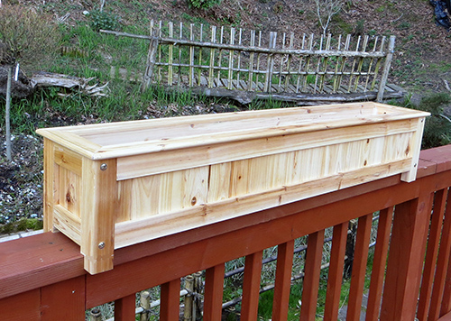 Wood Deck Planters