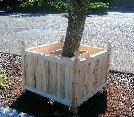 Tree Trunk Protector >> Estate Tree Planter