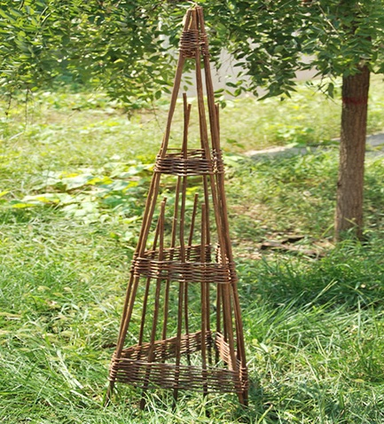 Willow Round Obelisk Willow Spiral Round Obelisk WSO 48 Foldable 3 Sided  Obelisk, ...