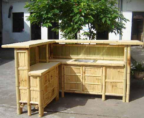 Bamboo Tiki Bar Counter