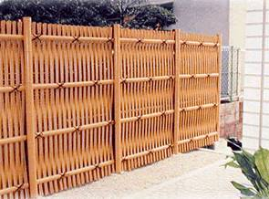 Otsugaki Woven Bamboo Fence. Rustic Woven Bamboo Fencing Part 48