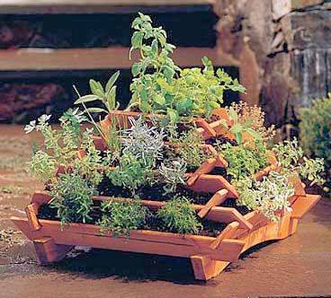 Wooden Tiered Planter