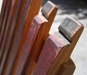 Oak Stave Lounge Chair