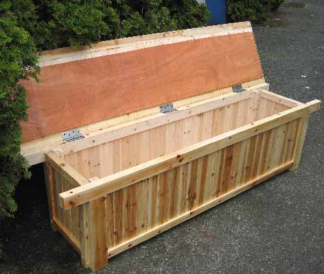 Permalink to diy outdoor storage bench
