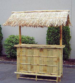 Bamboo Tiki Bar With Thatch Roof