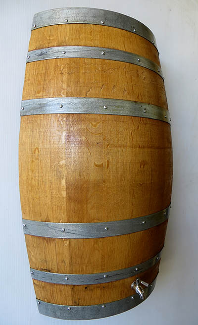 Mounted Wall Wine Barrel