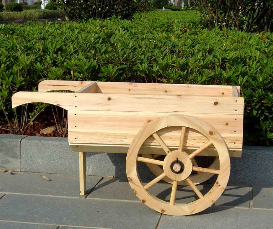 Download wooden wheelbarrow planter box plans free for Garden planter plans
