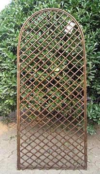 Lattice Fence With Vines